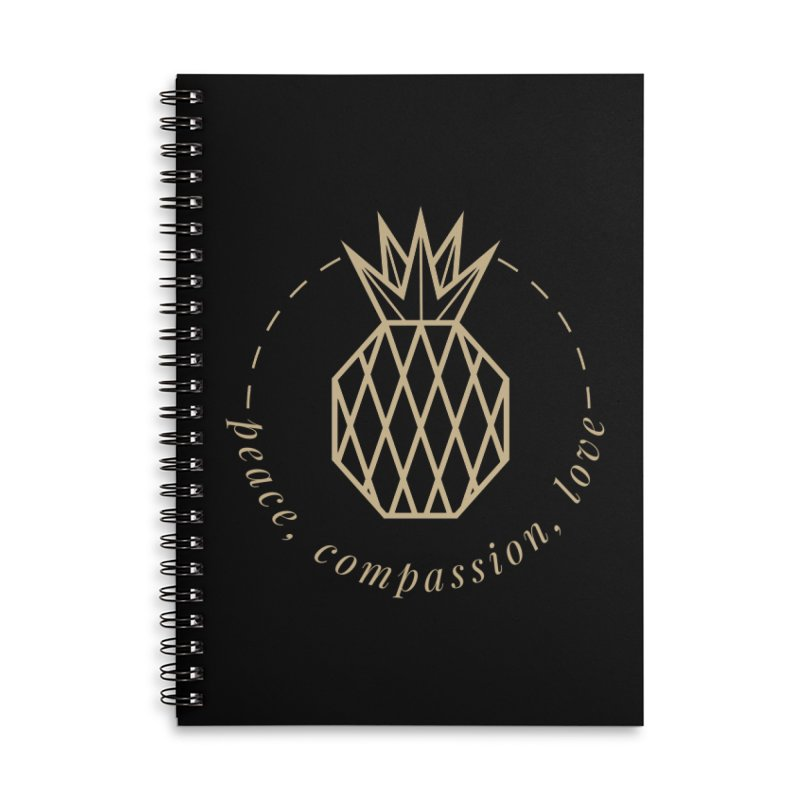 Peace Compassion Love Accessories Notebook by Smart Boy Merch