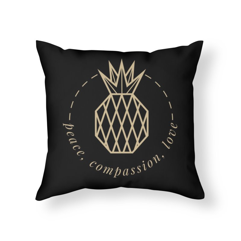 Peace Compassion Love Home Throw Pillow by Smart Boy Merch