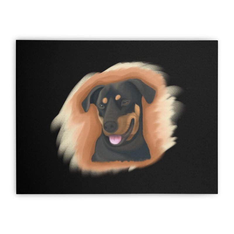 MILO Home Stretched Canvas by Smart Boy Merch
