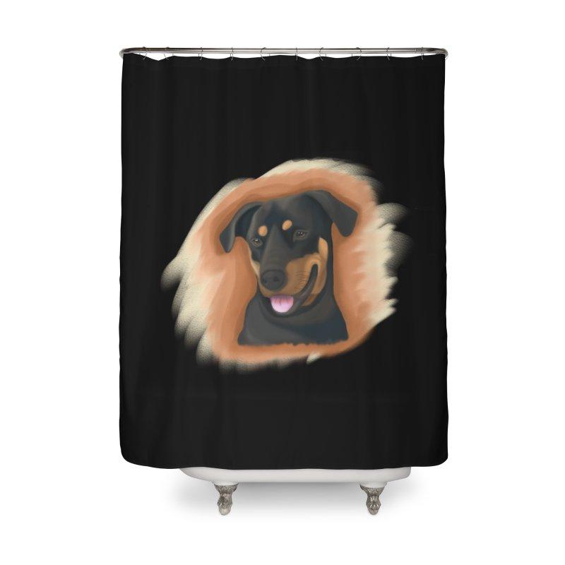MILO Home Shower Curtain by Smart Boy Merch
