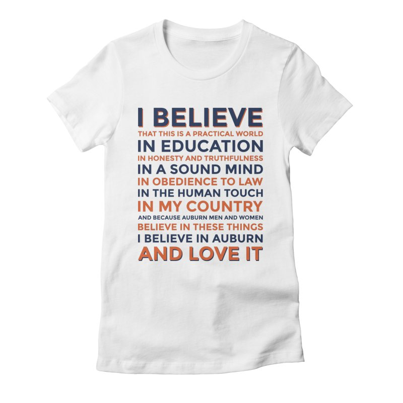 I Believe Women's Fitted T-Shirt by Smart Material