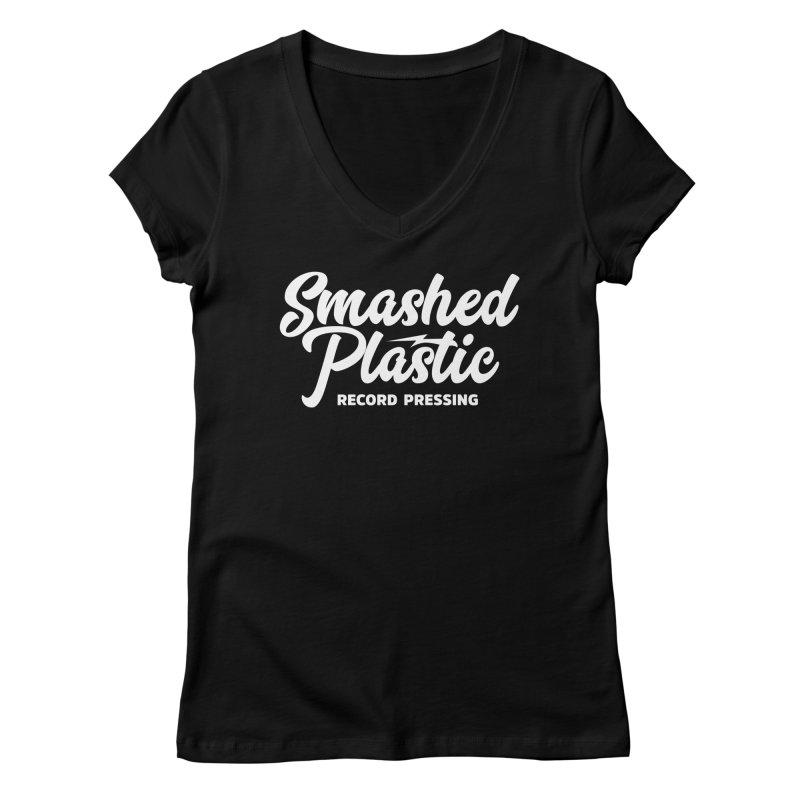 Alternate Logo Women's V-Neck by Smashed Plastic's Artist Shop