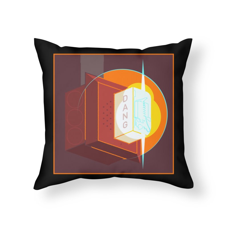 Fire Alarm Home Throw Pillow by Kyle Smeallie's Design Store