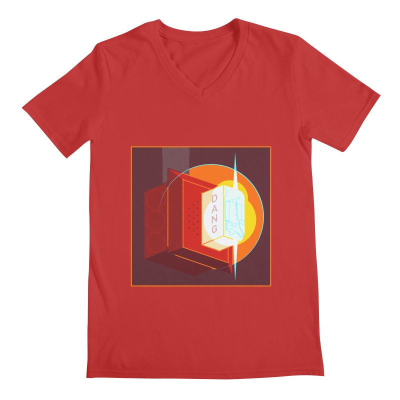 Fire Alarm Men's Regular V-Neck by Kyle Smeallie's Design Store