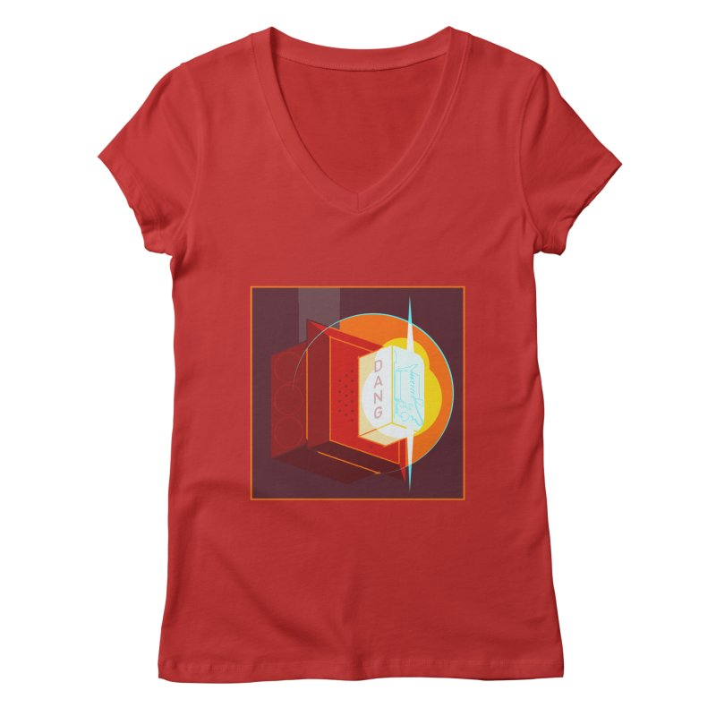 Fire Alarm Women's Regular V-Neck by Kyle Smeallie's Design Store