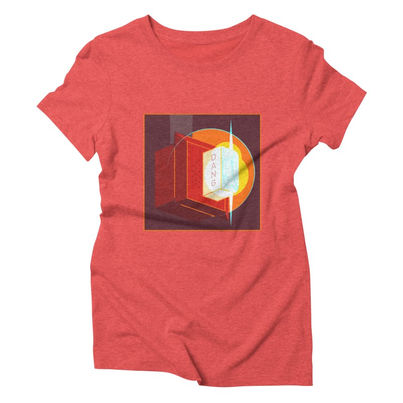 Fire Alarm Women's Triblend T-Shirt by Kyle Smeallie's Design Store