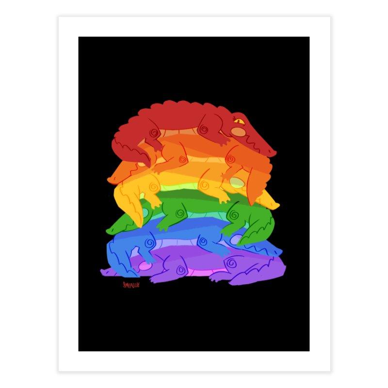 gator pride Home Fine Art Print by Kyle Smeallie's Design Store