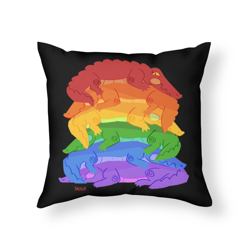 gator pride Home Throw Pillow by Kyle Smeallie's Design Store