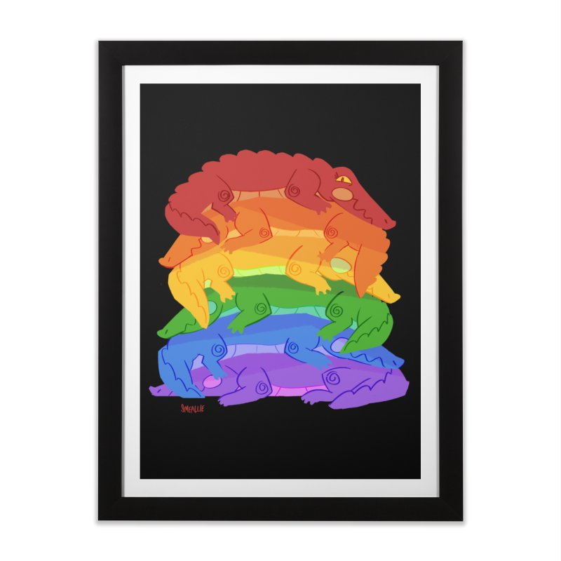 gator pride Home Framed Fine Art Print by Kyle Smeallie's Design Store