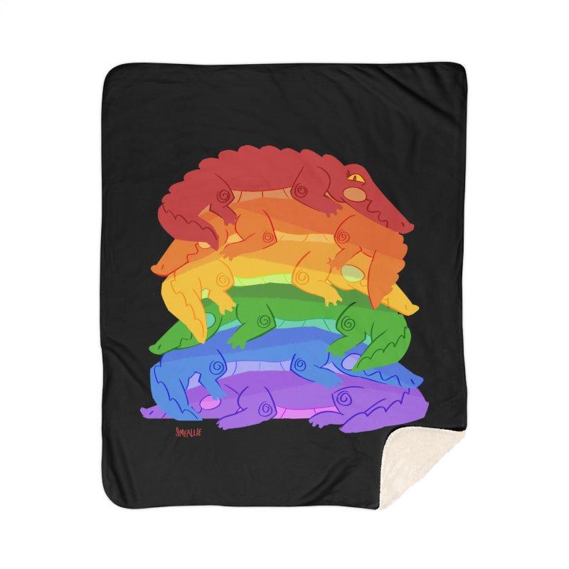 gator pride Home Sherpa Blanket Blanket by Kyle Smeallie's Design Store