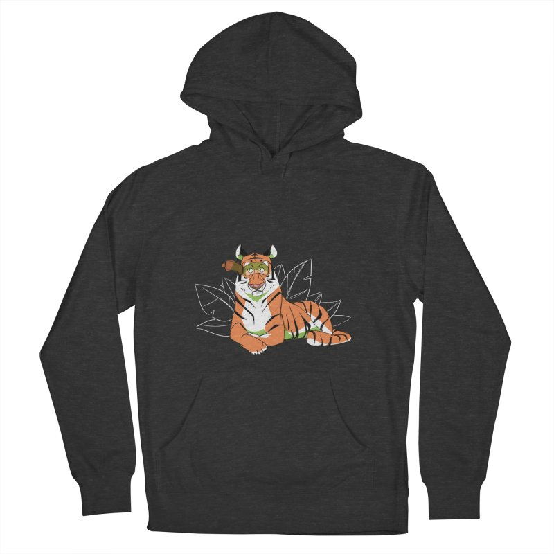 Eyes of the Tiger Men's French Terry Pullover Hoody by Kyle Smeallie's Design Store