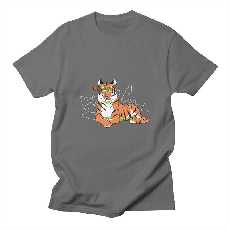Eyes of the Tiger Men's Regular T-Shirt by Kyle Smeallie's Design Store