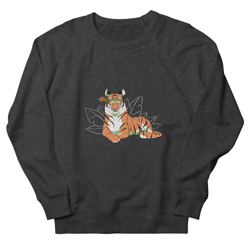 Eyes of the Tiger Men's French Terry Sweatshirt by Kyle Smeallie's Design Store