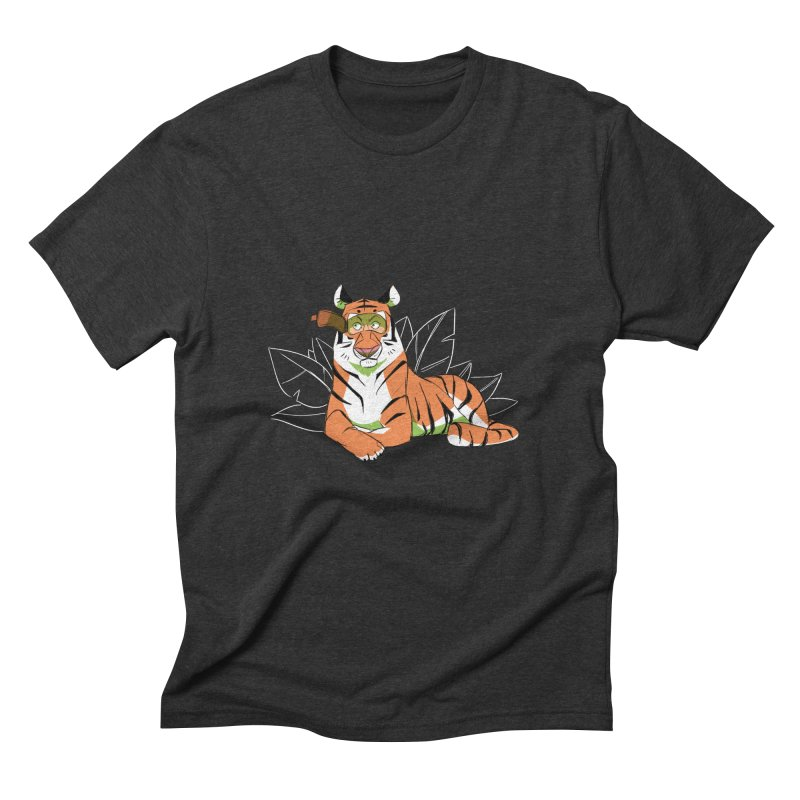 Eyes of the Tiger Men's Triblend T-Shirt by Kyle Smeallie's Design Store