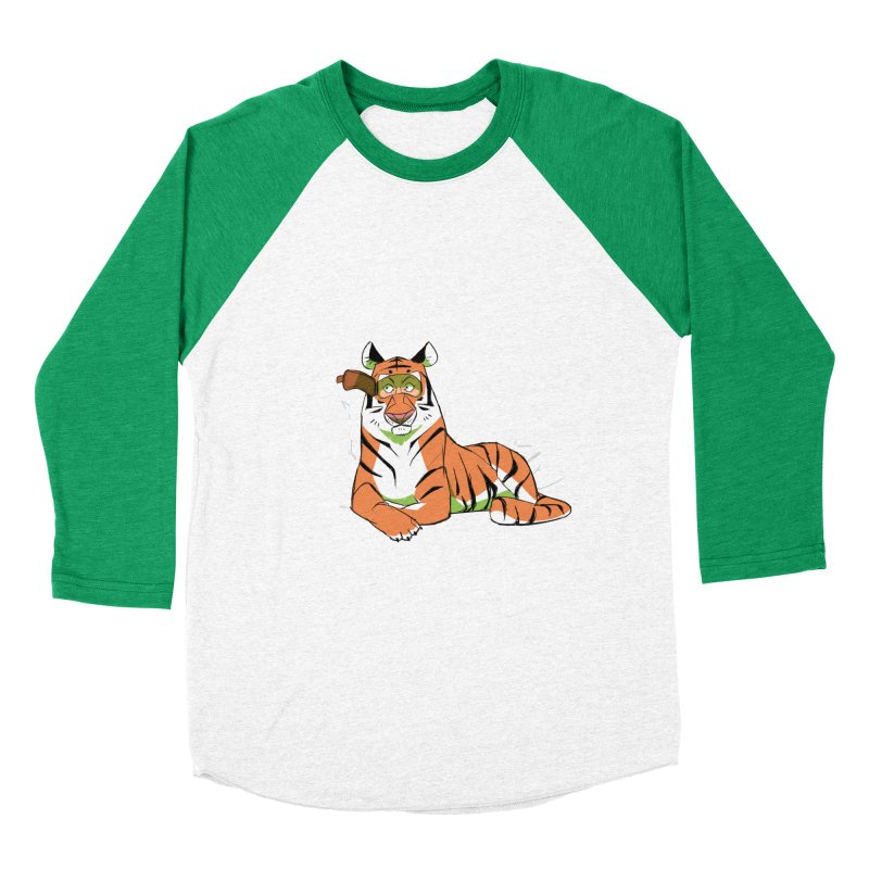 Eyes of the Tiger Women's Baseball Triblend T-Shirt by Kyle Smeallie's Design Store