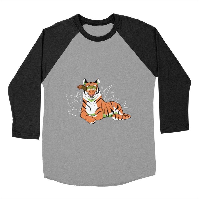 Eyes of the Tiger Men's Baseball Triblend Longsleeve T-Shirt by Kyle Smeallie's Design Store