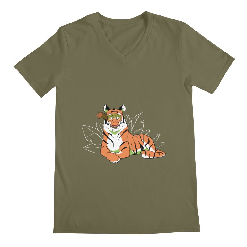 Eyes of the Tiger Men's Regular V-Neck by Kyle Smeallie's Design Store