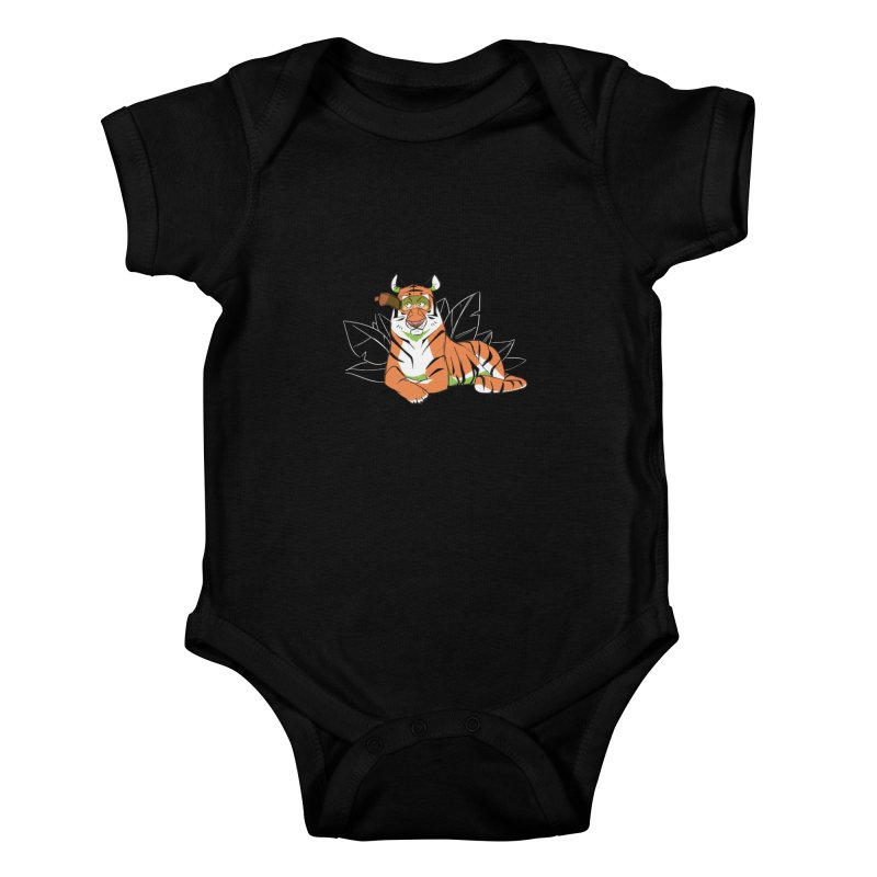 Eyes of the Tiger Kids Baby Bodysuit by Kyle Smeallie's Design Store