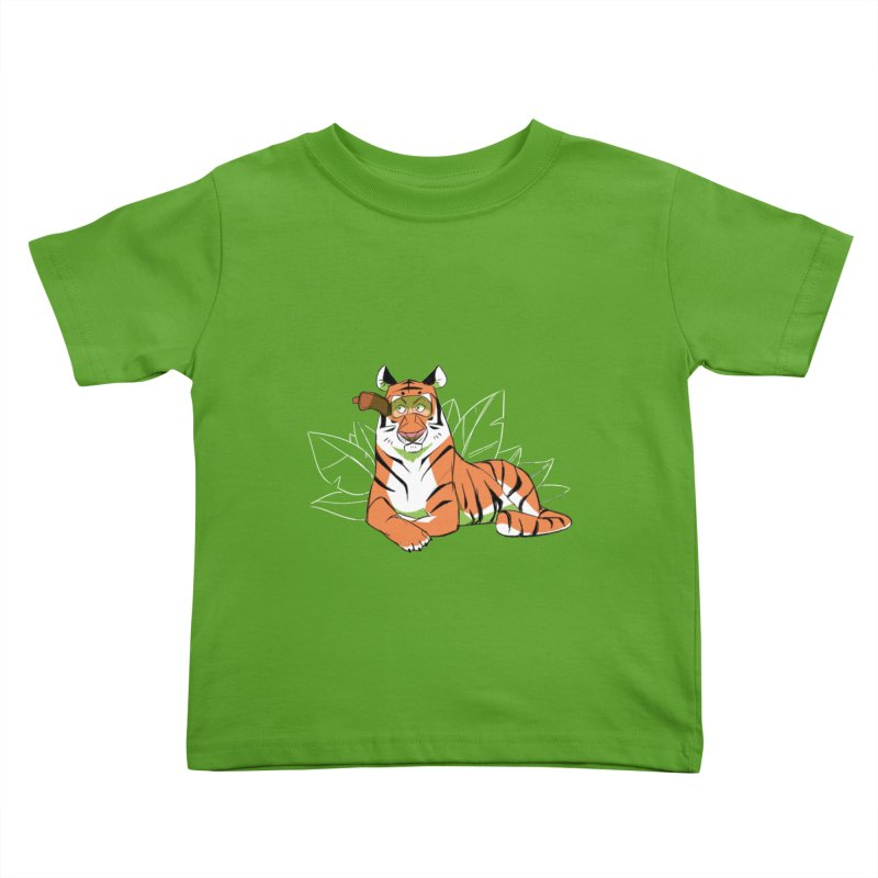 Eyes of the Tiger Kids Toddler T-Shirt by Kyle Smeallie's Design Store