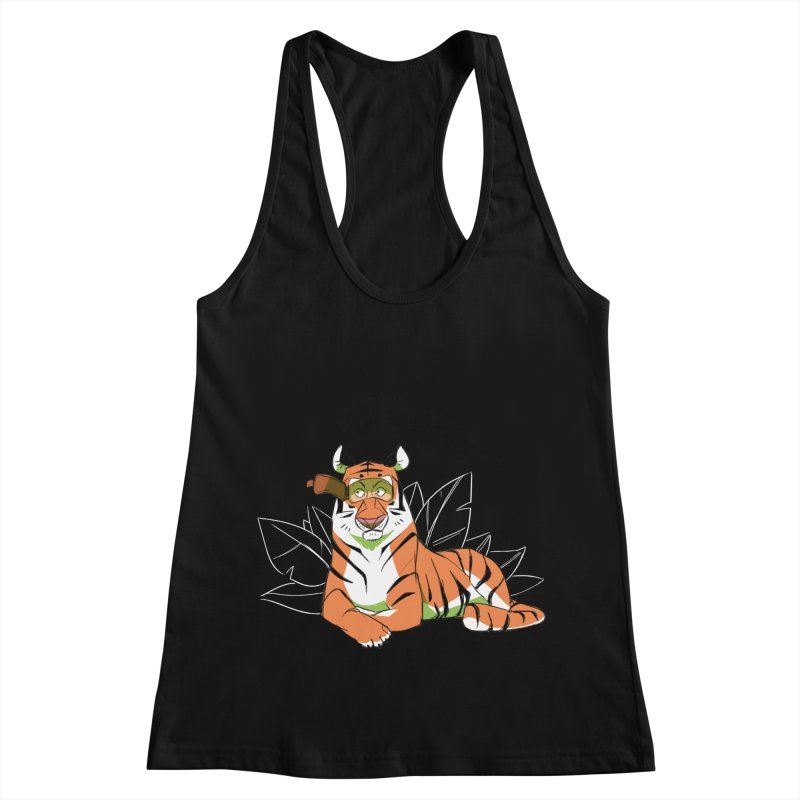 Eyes of the Tiger Women's Racerback Tank by Kyle Smeallie's Design Store