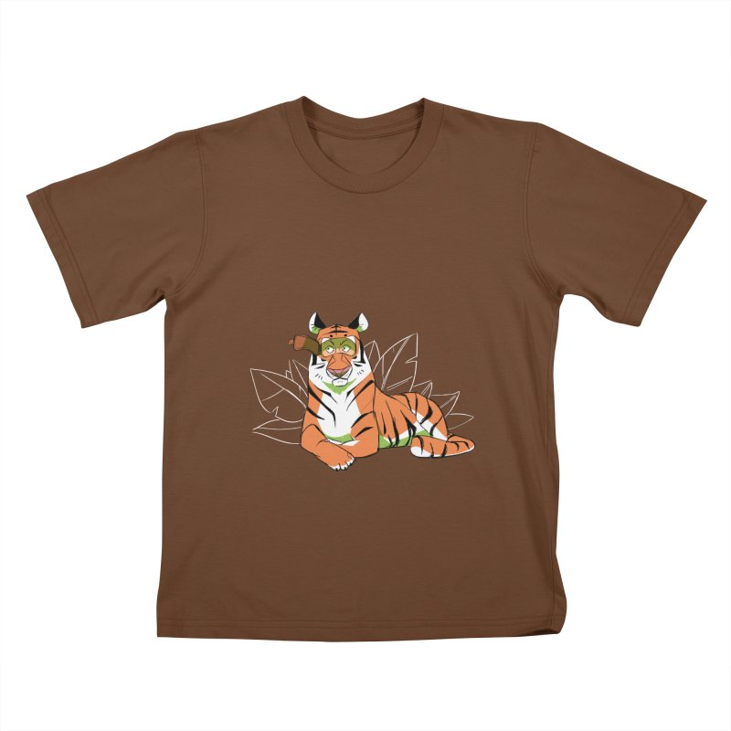 Eyes of the Tiger Kids T-Shirt by Kyle Smeallie's Design Store