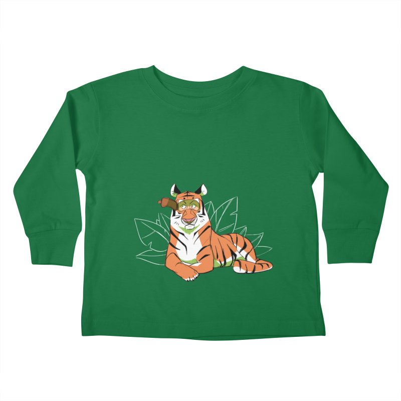 Eyes of the Tiger Kids Toddler Longsleeve T-Shirt by Kyle Smeallie's Design Store