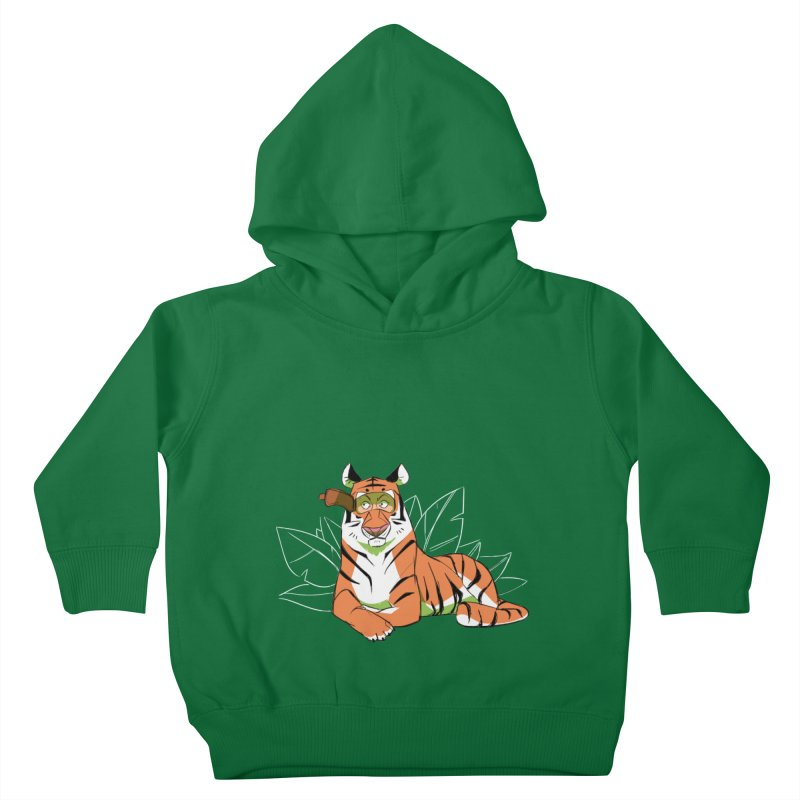 Eyes of the Tiger Kids Toddler Pullover Hoody by Kyle Smeallie's Design Store