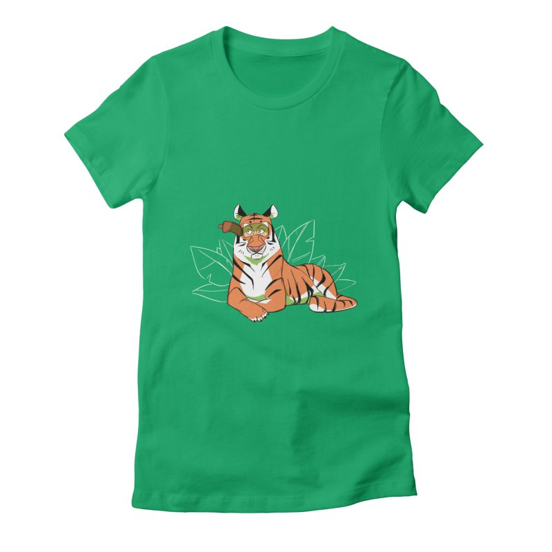 Eyes of the Tiger Women's Fitted T-Shirt by Kyle Smeallie's Design Store
