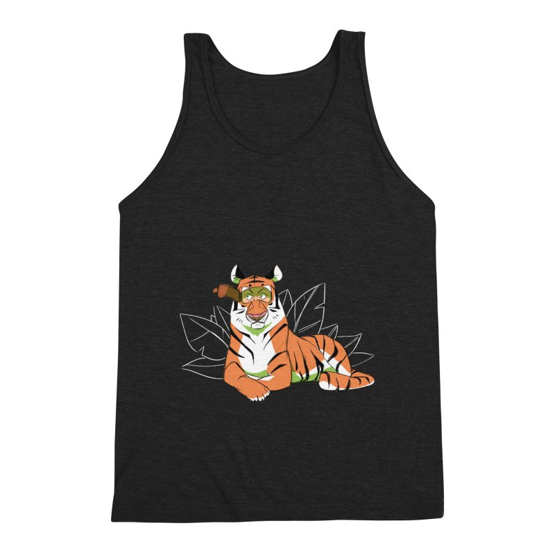Eyes of the Tiger Men's Triblend Tank by Kyle Smeallie's Design Store
