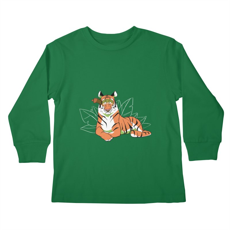 Eyes of the Tiger Kids Longsleeve T-Shirt by Kyle Smeallie's Design Store