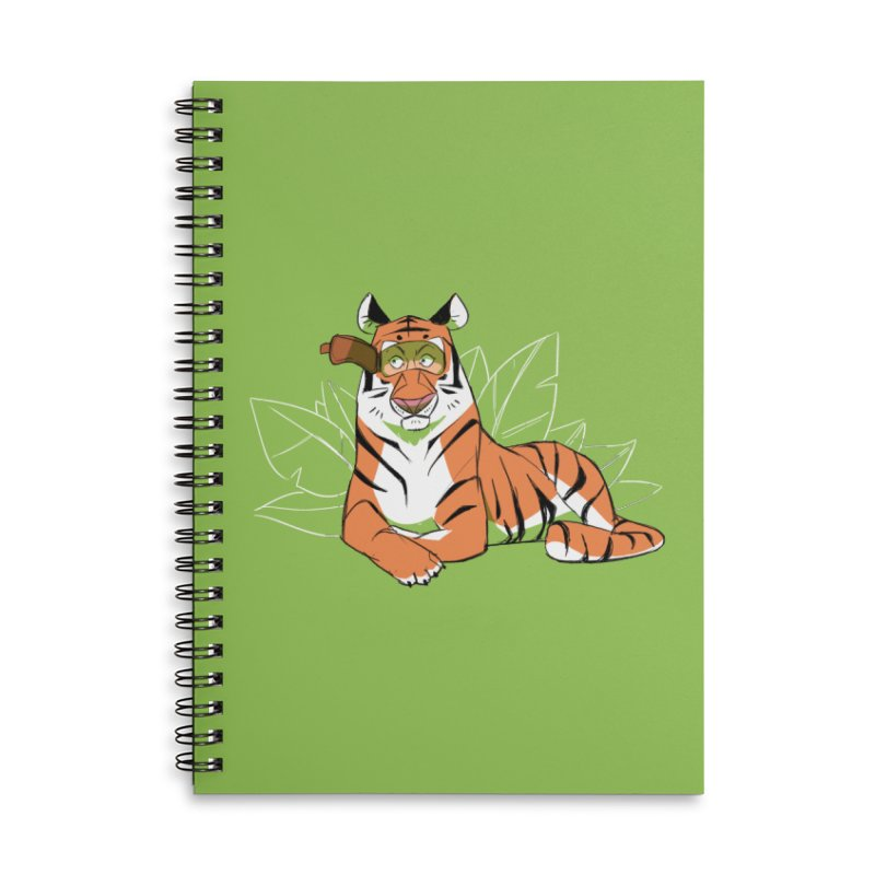 Eyes of the Tiger Accessories Lined Spiral Notebook by Kyle Smeallie's Design Store