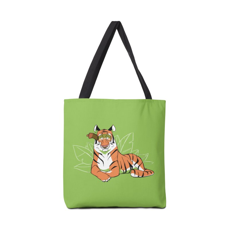 Eyes of the Tiger Accessories Bag by Kyle Smeallie's Design Store