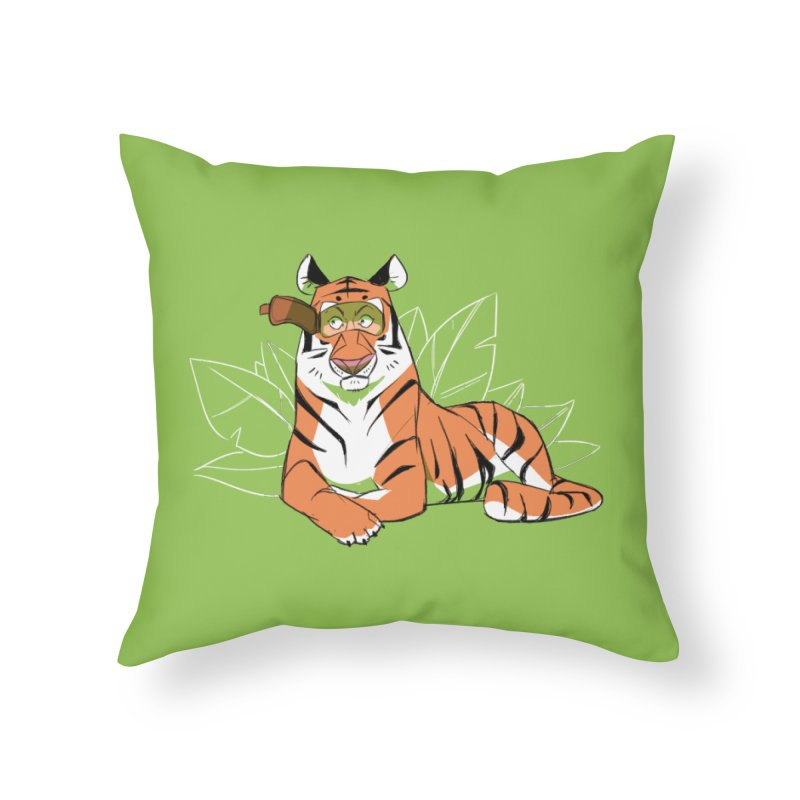 Eyes of the Tiger Home Throw Pillow by Kyle Smeallie's Design Store