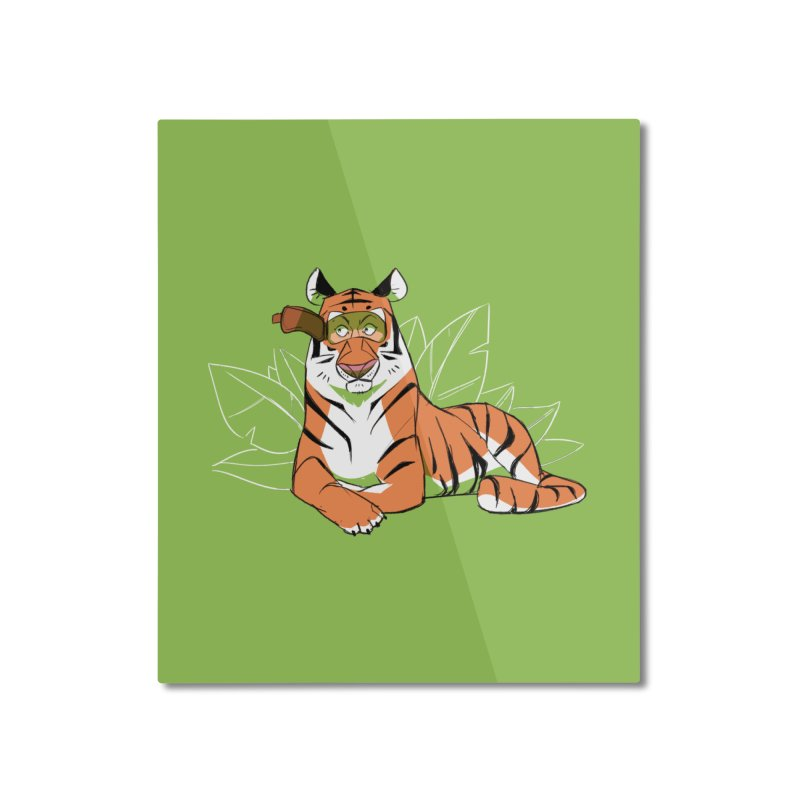 Eyes of the Tiger Home Mounted Aluminum Print by Kyle Smeallie's Design Store