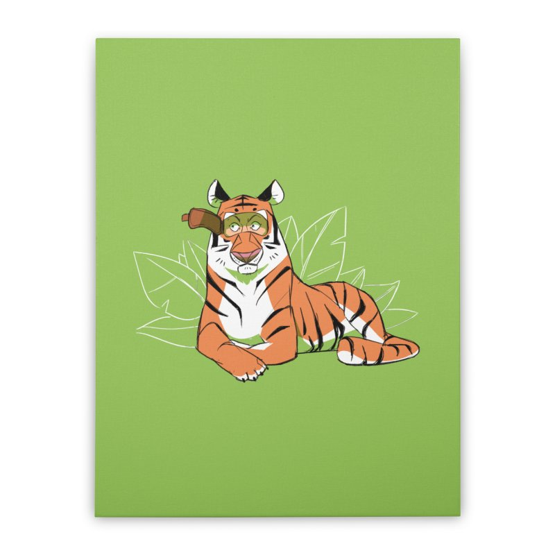 Eyes of the Tiger Home Stretched Canvas by Kyle Smeallie's Design Store