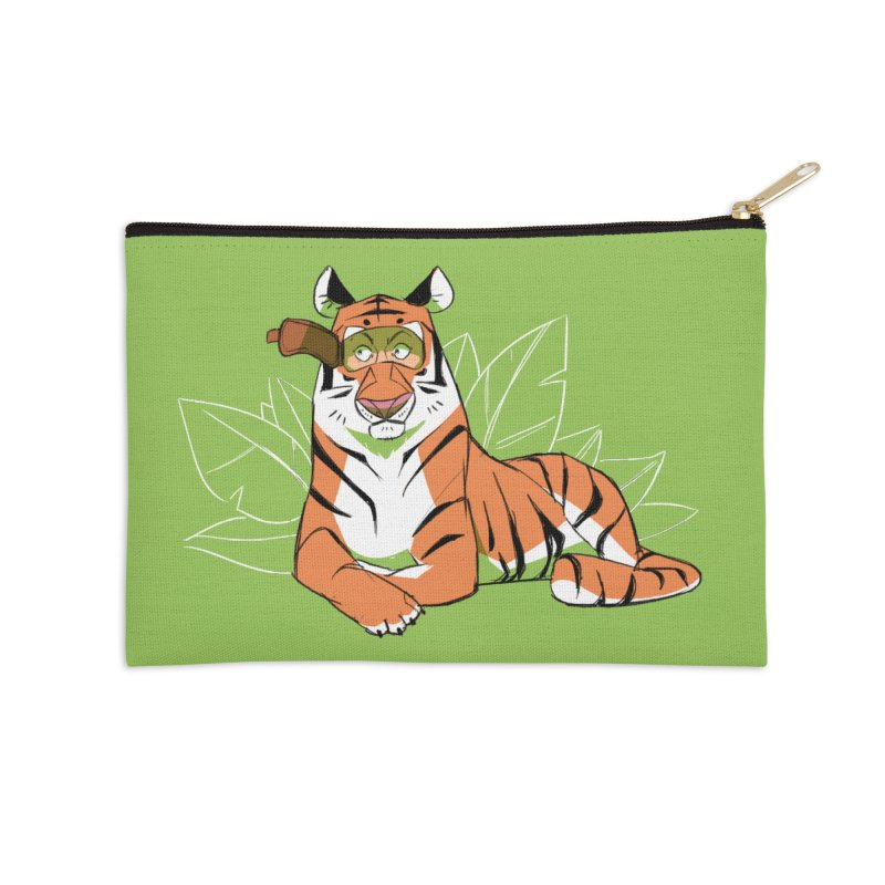 Eyes of the Tiger Accessories Zip Pouch by Kyle Smeallie's Design Store