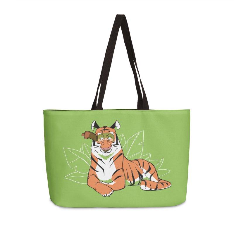 Eyes of the Tiger Accessories Weekender Bag Bag by Kyle Smeallie's Design Store