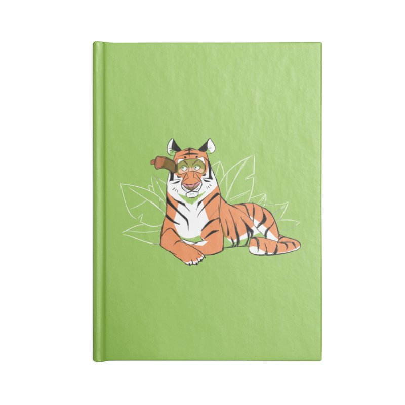 Eyes of the Tiger Accessories Lined Journal Notebook by Kyle Smeallie's Design Store