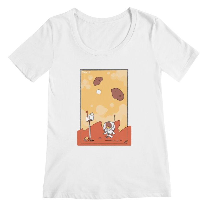 Lil Mister Mars Women's Regular Scoop Neck by Kyle Smeallie's Design Store