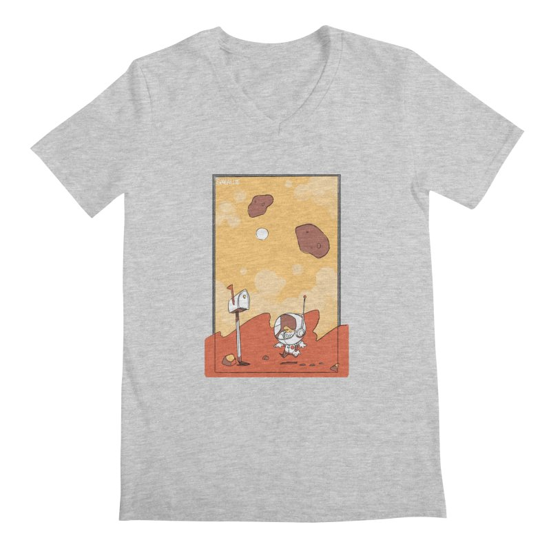 Lil Mister Mars Men's Regular V-Neck by Kyle Smeallie's Design Store