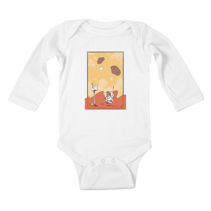 Lil Mister Mars Kids Baby Longsleeve Bodysuit by Kyle Smeallie's Design Store
