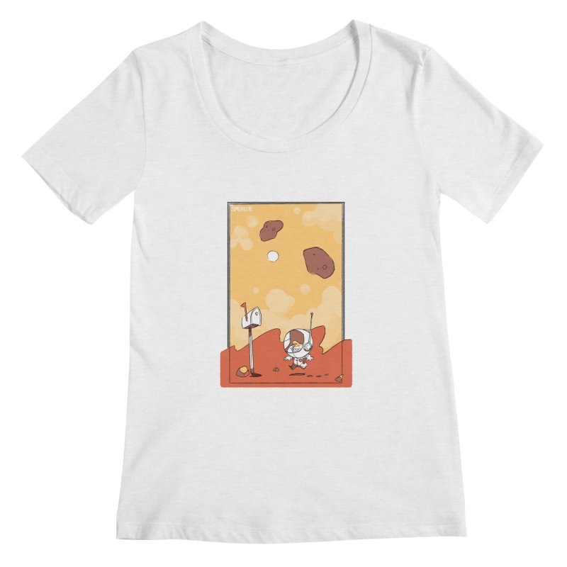 Lil Mister Mars Women's Regular Scoop Neck by Kyle Smeallie's Design Store