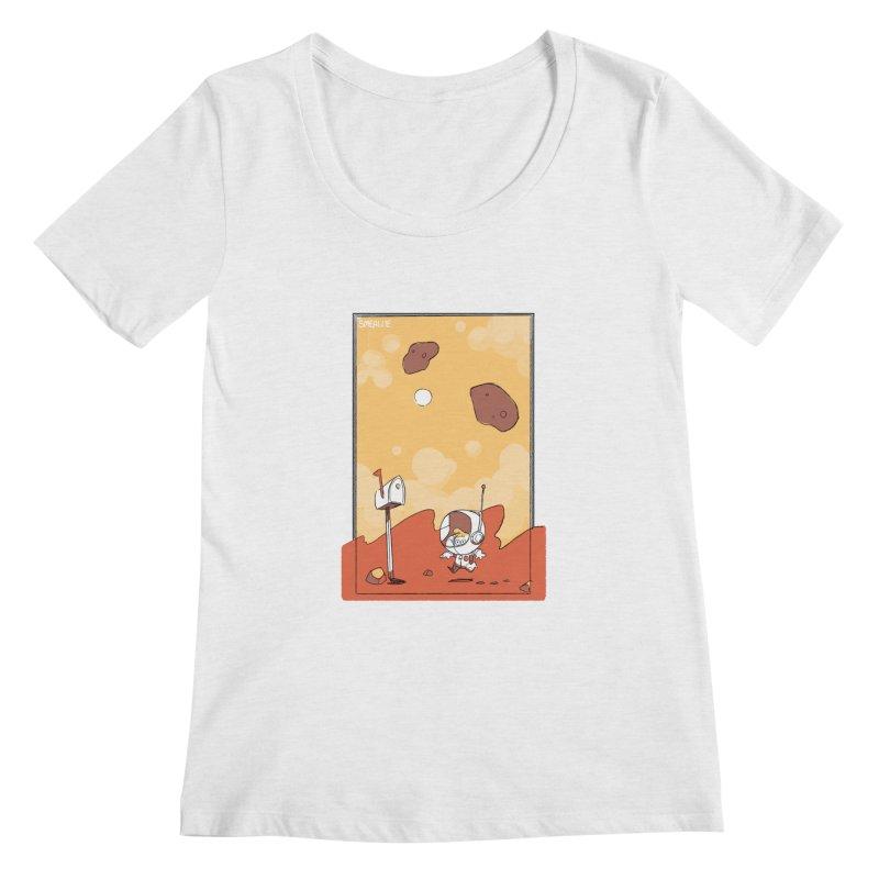 Lil Mister Mars Women's Scoopneck by Kyle Smeallie's Design Store