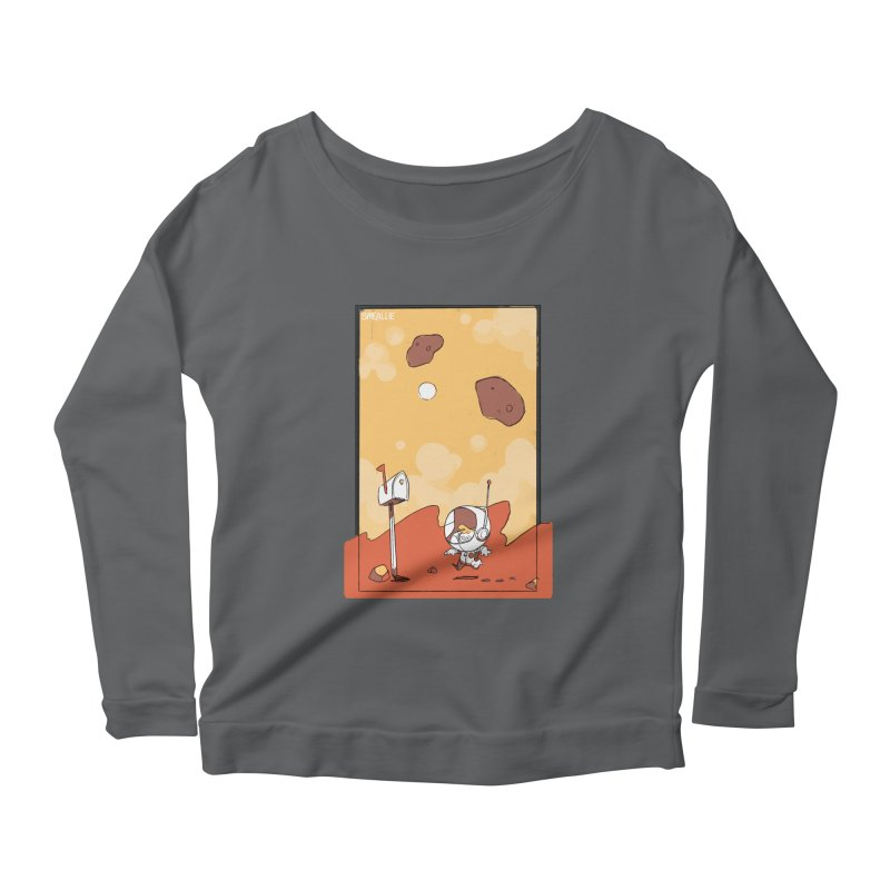 Lil Mister Mars Women's Scoop Neck Longsleeve T-Shirt by Kyle Smeallie's Design Store
