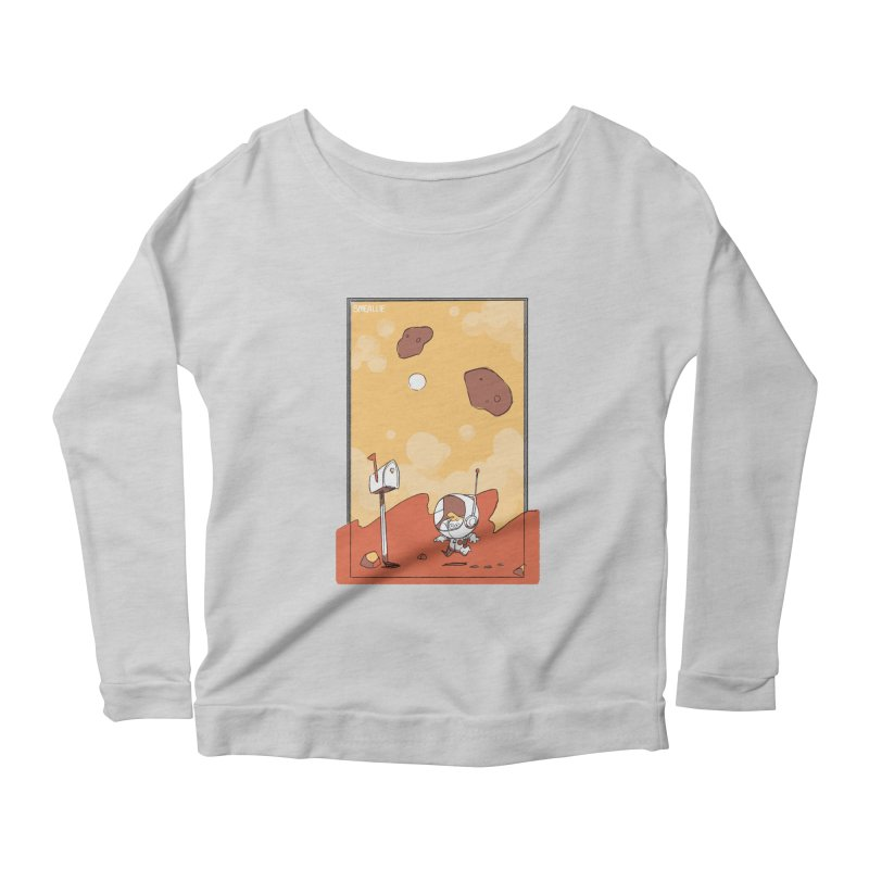 Lil Mister Mars Women's Scoop Neck Longsleeve T-Shirt by Kyle Smeallie's Design Store