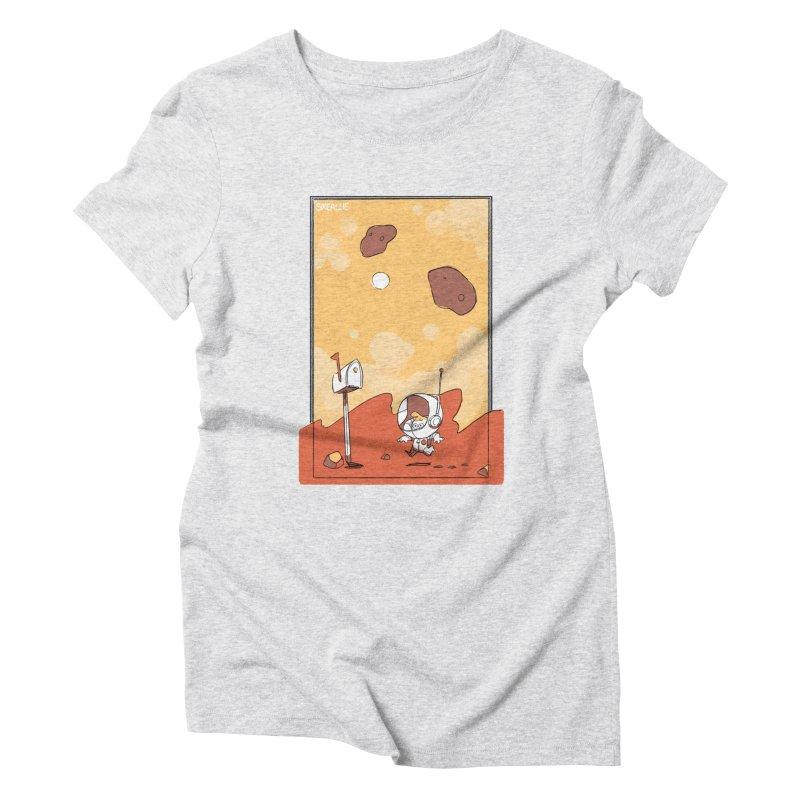Lil Mister Mars Women's Triblend T-Shirt by Kyle Smeallie's Design Store