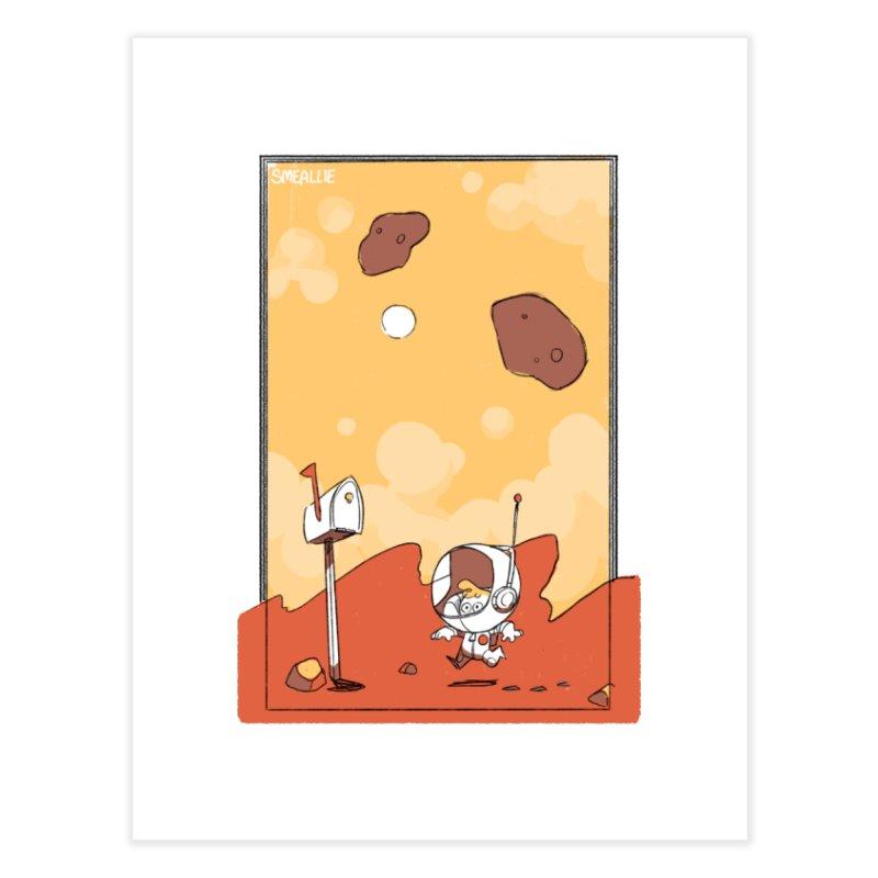 Lil Mister Mars Home Fine Art Print by Kyle Smeallie's Design Store