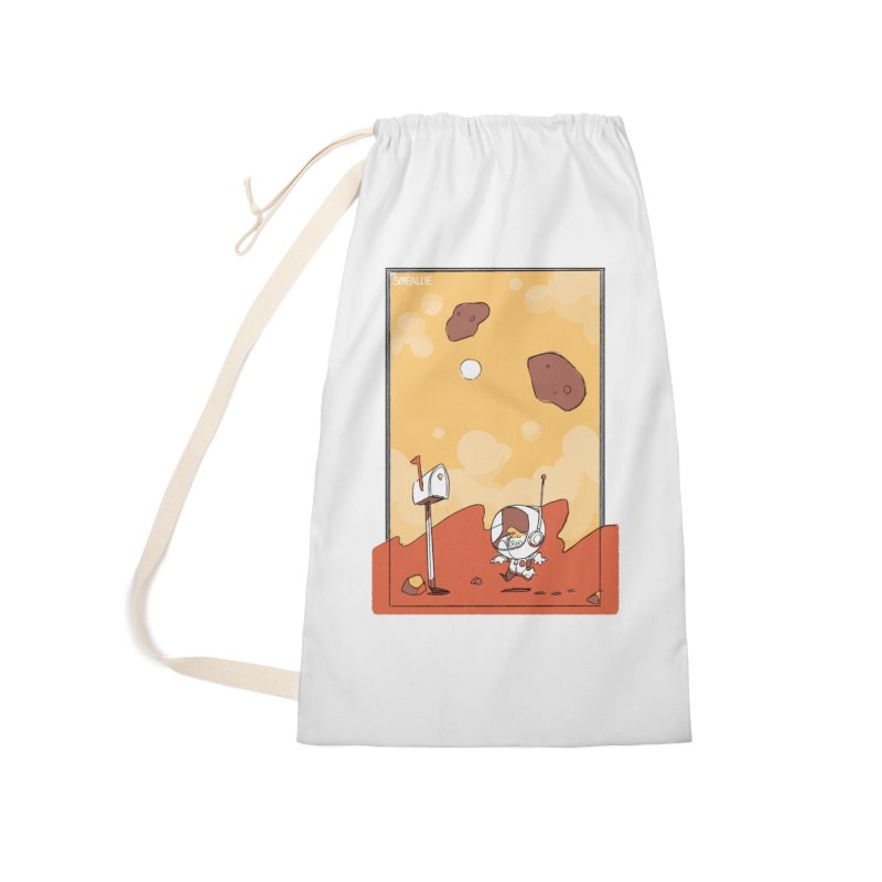 Lil Mister Mars Accessories Laundry Bag Bag by Kyle Smeallie's Design Store