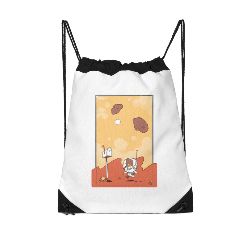 Lil Mister Mars Accessories Drawstring Bag Bag by Kyle Smeallie's Design Store