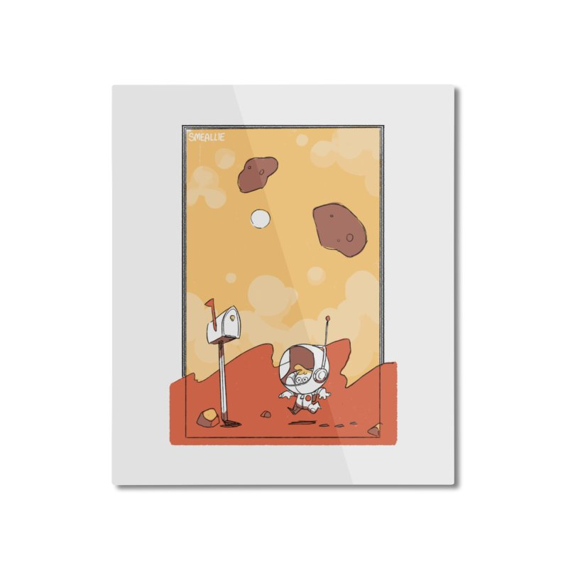 Lil Mister Mars Home Mounted Aluminum Print by Kyle Smeallie's Design Store